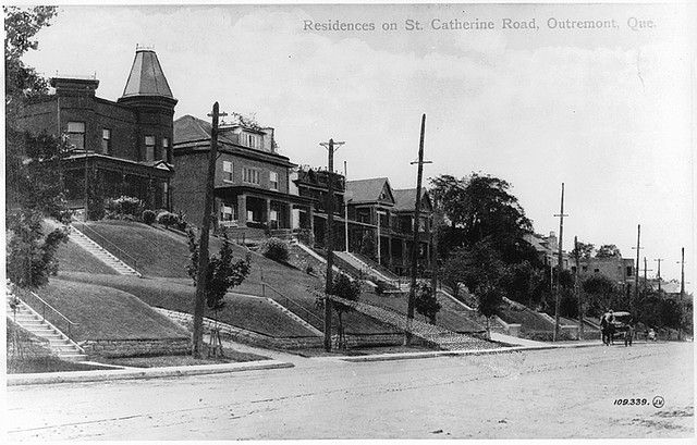 Residences on Cote St. Catherine Road, Outremont, QC, about 1910   by Musée McCord Museum