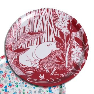 Moomin tray round - red Ø31 cm - Opto design