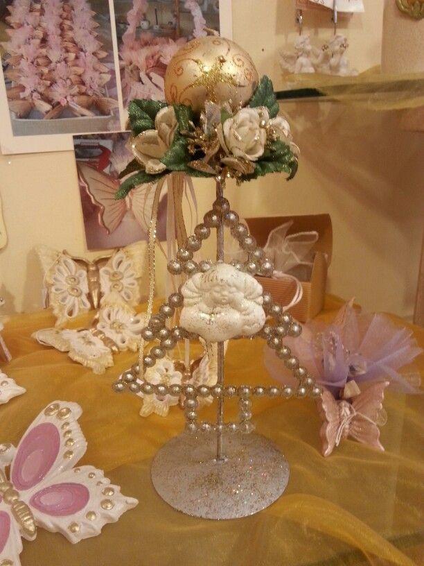 Candeliere con applicazione angelo