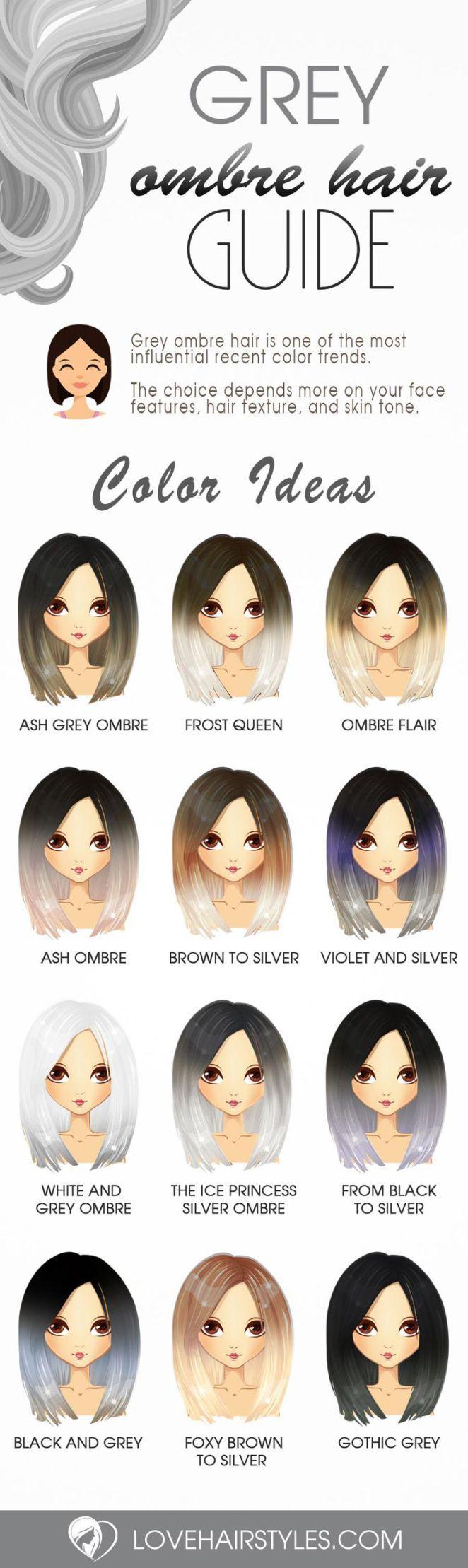 Nouvelle Tendance Coiffures Pour Femme  2017 / 2018   Grey Ombre Hair Ideas to Rock cette année  Voir plus: lovehairstyles.co