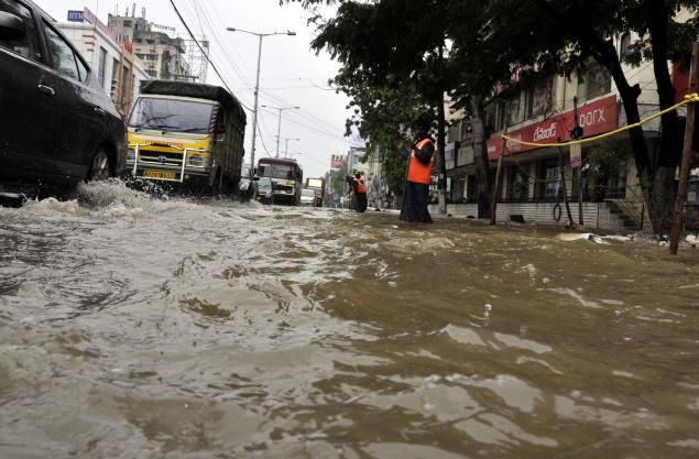Image result for rainfall in hyderabad