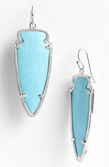 Kendra Scott 'Skylar Spear' Statement Earrings   Nordstrom. In silver and on sale at Nordstrom
