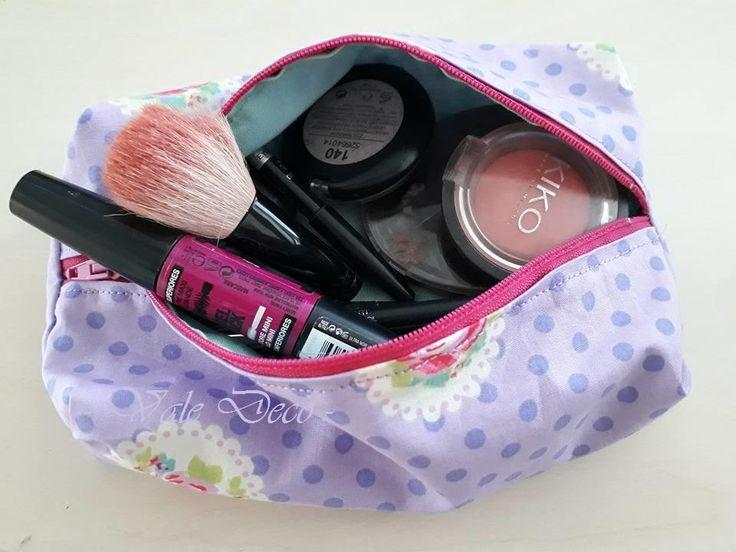 Trousse da borsa in cotone con zip/Pochette/Makeup di ValeDecoHandmade su Etsy - 8€