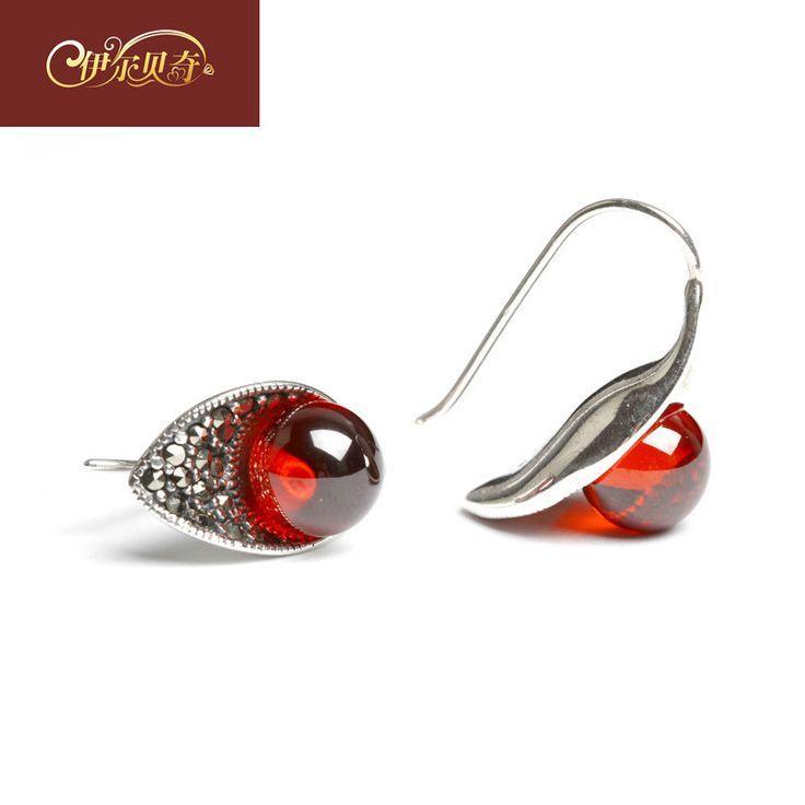 Laoyinjiang 925 pure silver earrings female thai silver garnet earrings silver drop earring accessories gift $48.35