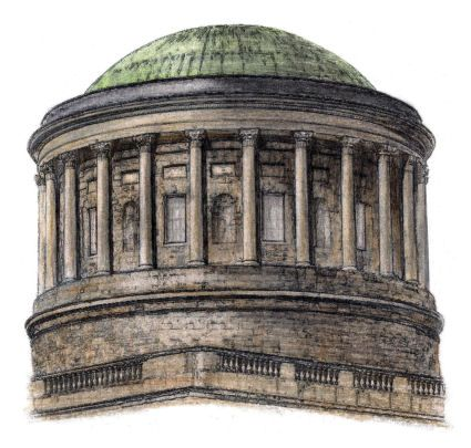 Drawing of dome of the Four Courts, Dublin