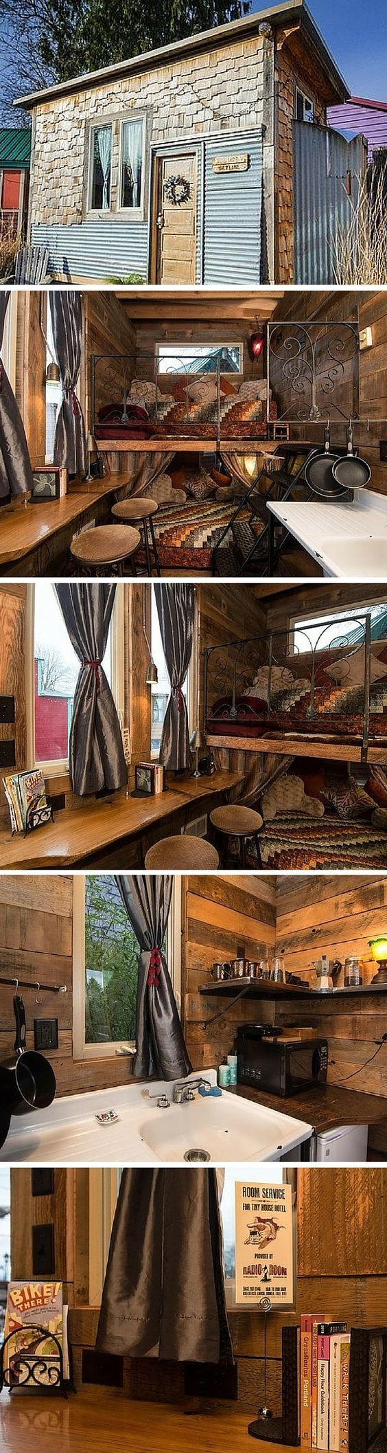 The Skyline cabin, a tiny house for rent in Portland, Oregon.: