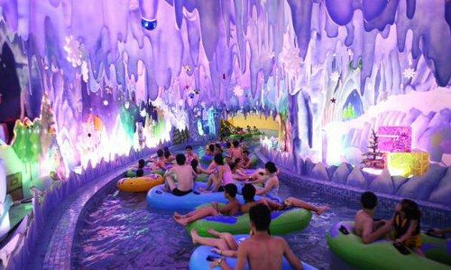 indoor water world in china   largest water park in the world nearly 1 million square feet of water ...