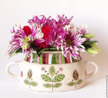 """Вазы ручной работы. Ярмарка Мастеров - ручная работа. Купить Керамическая ваза """" Нежность"""". Handmade. Белый, керамическая ваза"""