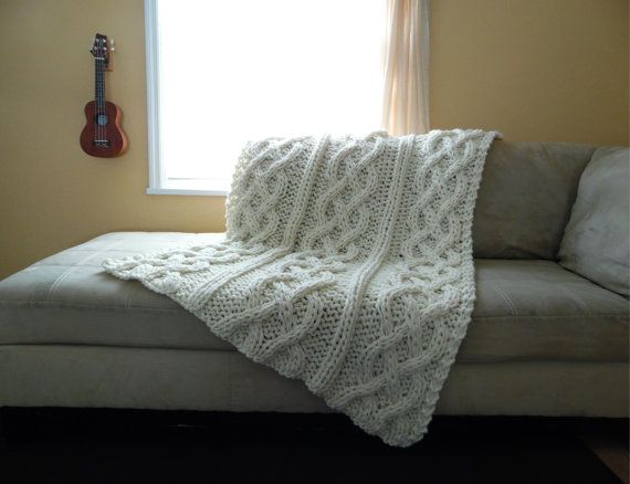 Cable Knit Blanket  Made-To-Order