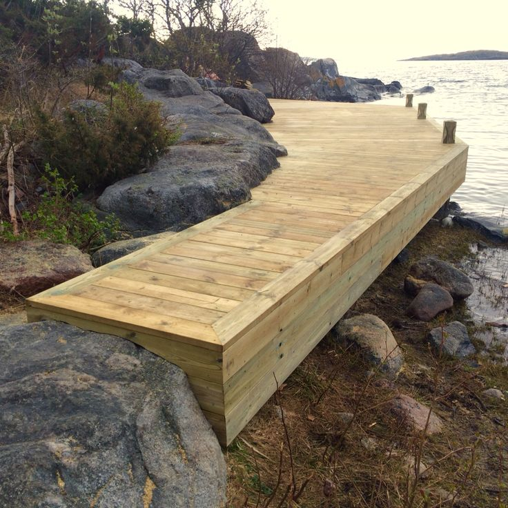 Brygga / Jetty built by Red Mount AB ordered by AB Sjöliv. Stockholm North Archipelago. 0700534688.