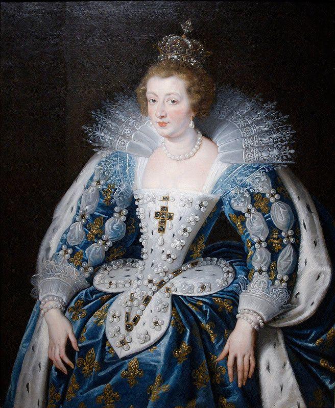 Peter Paul Rubens - Portret van de Franse koningin-moeder Anna van Oostenrijk