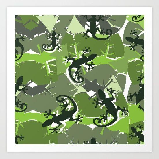 Gek-ko Art Print by InfinityCreations | Society6