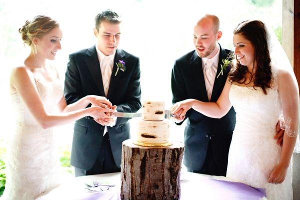 Lakeside Double Wedding