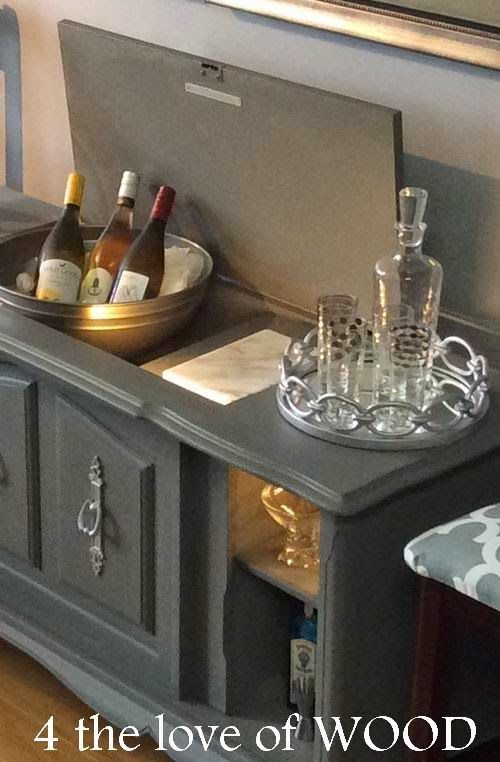 4 The Love Of Wood: PIN WORTHY WINE BAR   Stereo Cabinet Makeover