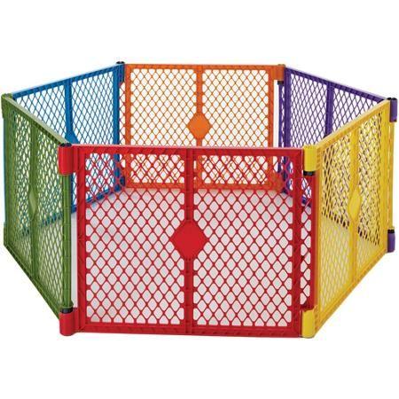 North States Color Superyard Baby/Pet Gate & Portable Play Yard - 6 Panel | 8769 - Walmart.com