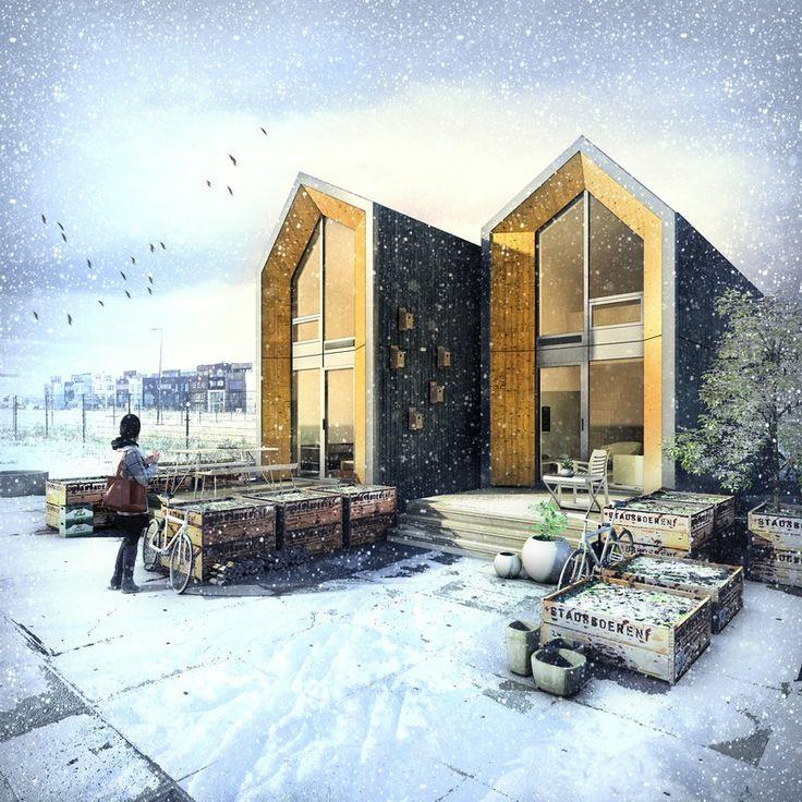 Les 595 meilleures images du tableau build prefab houses for Kodasema maison