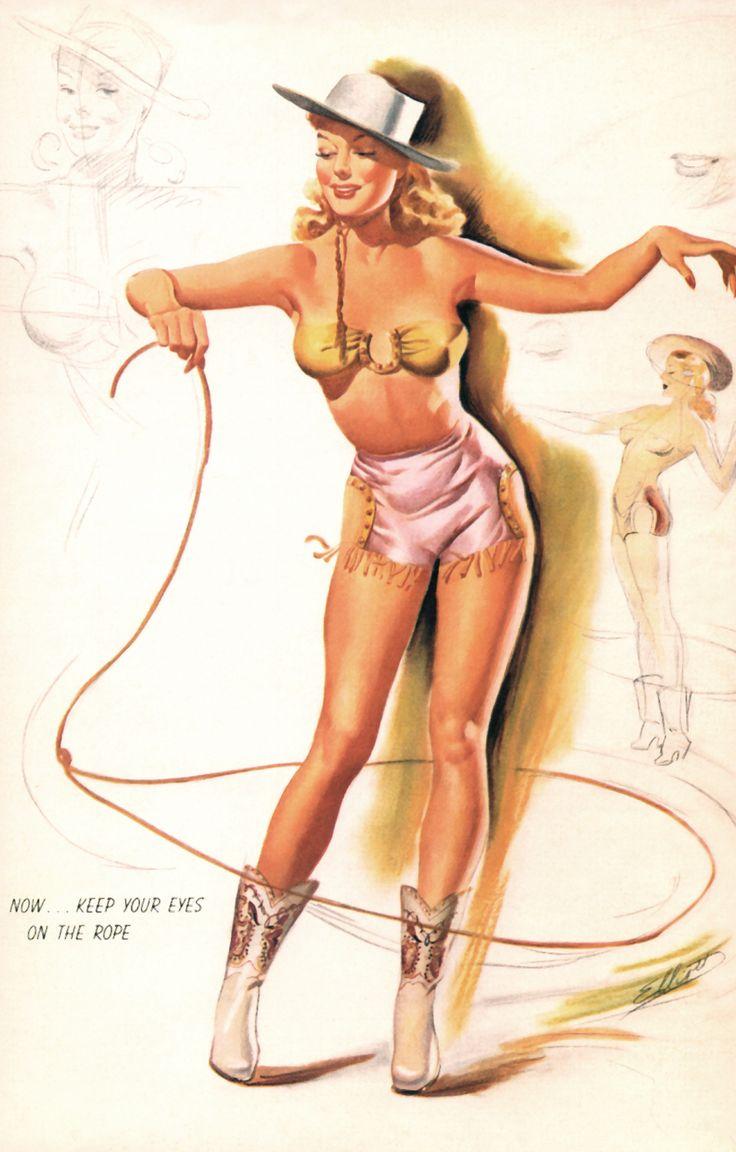 Vintage gay pinup art