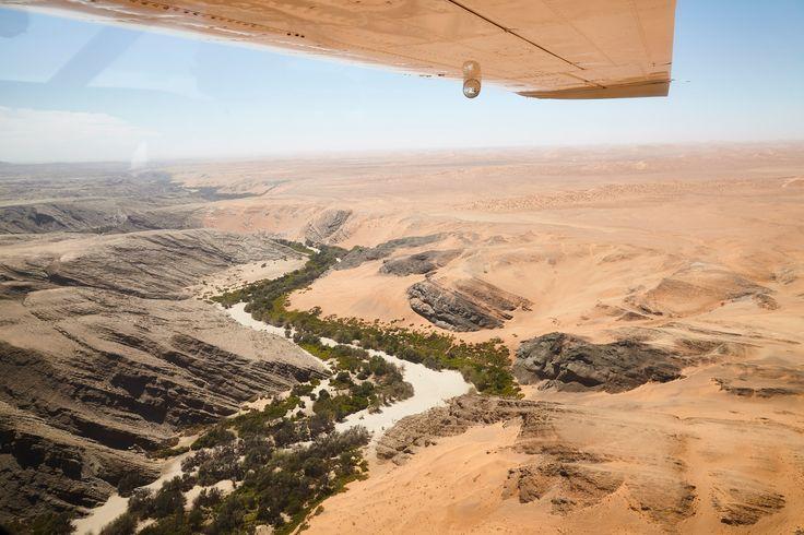 Kuseb River meets Namib desert, Namibia, December 2016 by Karin Henriques