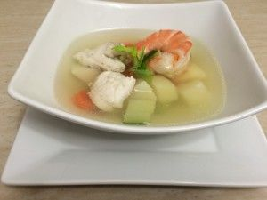 Delicious and healthy fish soup