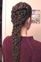 An awesome braided hair style to try... if you have crazy long hair - and a lot of it!