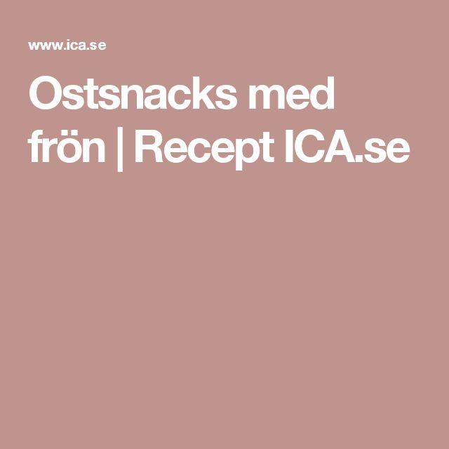 Ostsnacks med frön | Recept ICA.se