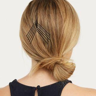 La pince plate géométrique : le nouvel accessoire mode ? (hair pins)
