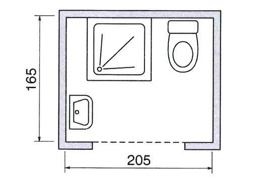 le plan d 39 une salle de douche avec wc int gr dimension sdb pinterest. Black Bedroom Furniture Sets. Home Design Ideas