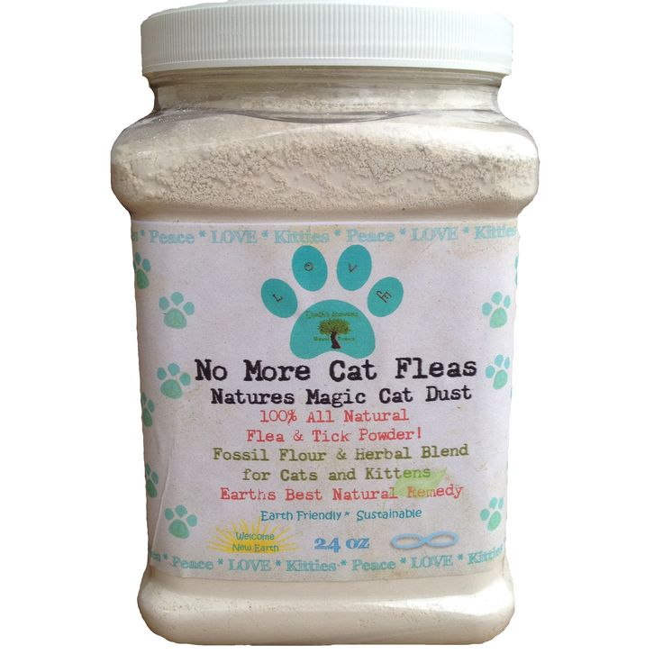 Earths Answers  - 24 oz No More Cat Fleas 100% Organic Natural Flea and Tick Treatment Powder, $22.99 (http://www.earths-answers.com/24-oz-no-more-cat-fleas-100-organic-natural-flea-and-tick-treatment-powder/)