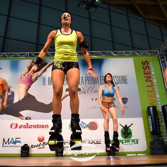 #KJTrainer  Lucilla Ridolfi at #riminiwellness2017! ... ... ... ... ... ... #kangoojumps #trusttheoriginal #morethanabrand #kangoo #jumps #rebound #shoes #bounce #jump #fitness #workout #fitnessfriday #italy #italia