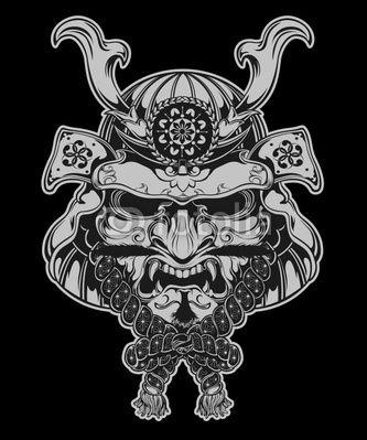 Japanese Samurai Warrior Mask   Samurai Mask by tairygreene, Royalty free vectors #21613546 on Fotolia ...