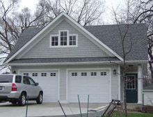 Custom 24x24 reverse gable with third gable new house for Reverse gable garage