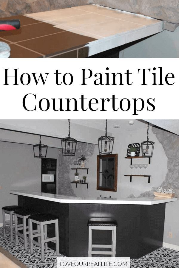 Tips For How To Paint Tile Countertops Give Ugly A Facelift Updating Our Bat On Budget Was Possible Using Click Through See What