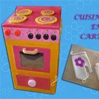 Cuisinière en carton  Tuto cartonnage - Loisirs créatifs