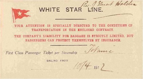 The price of a ticket on Titanic in 1912: First Class: $4,350 Second Class: $1,750 Third Class: $30