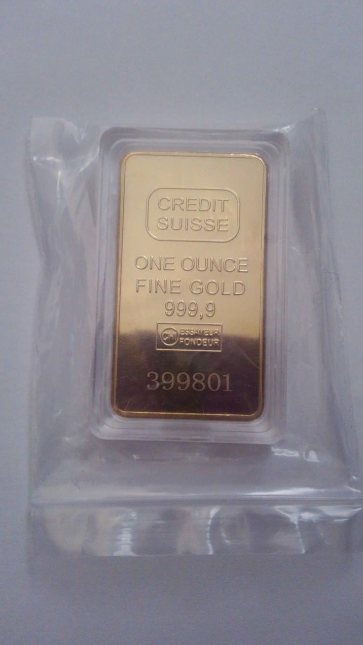 1 oz Credit Suisse Gold Bar .9999 Fine