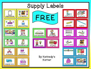 "The Best of Teacher Entrepreneurs: FREE MISC. LESSON - ""Back to School ~ Supply Labels ~ FREE!"""