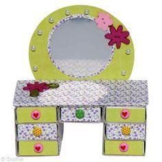 Fabrication boîte bijoux : mini coiffeuse en boîtes d'allumettes