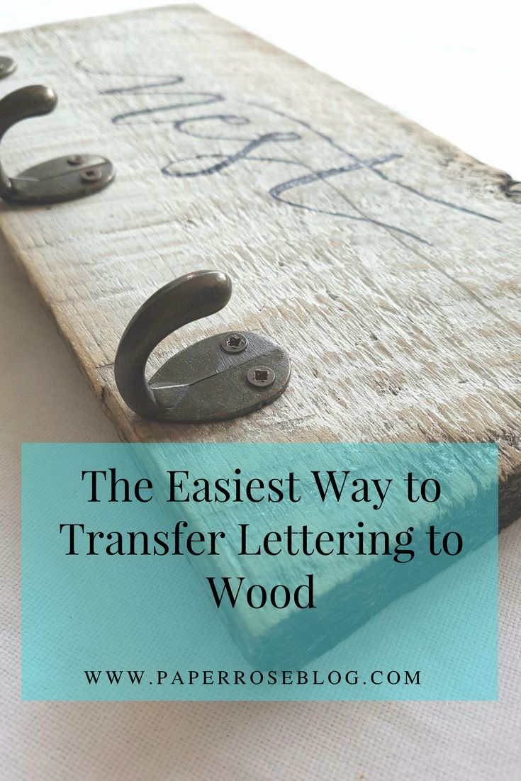 The easiest way to transfer text to wood using a printer, paper and a damp cloth. Get the lettering you want the easy way!