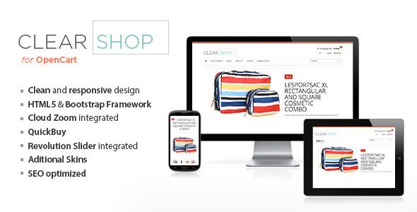 Clearshop - Responsive OpenCart theme (OpenCart) Download - PROFIREFOX