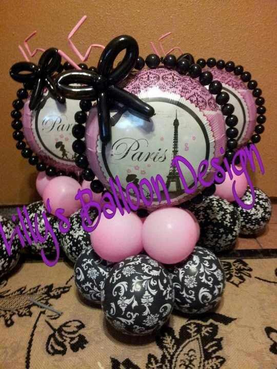 Paris theme balloon centerpieces - 37 Best PARIS WEDDING Images On Pinterest Centerpiece Ideas