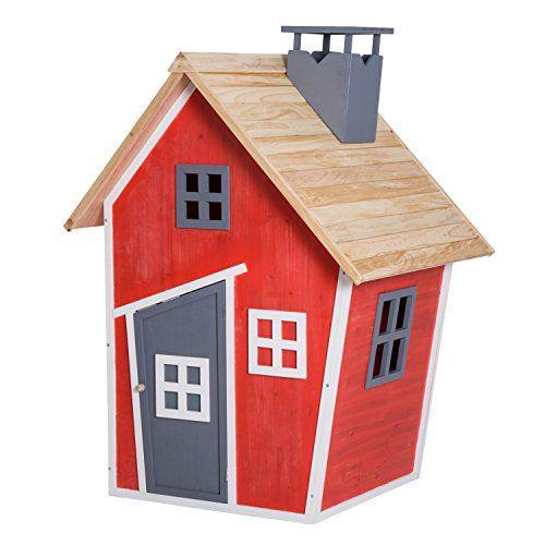 Homcom Maison de Jardin Jeu Plein air Enfants Porte Fenêtres - jeux de construction de maison en 3d