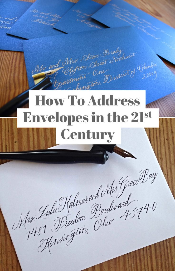 Tutorial: How To Address Envelopes in the 21st Century - Written by Abby Farson Pratt of Bluestocking Calligraphy #feminism #weddings #etiquette #calligraphy