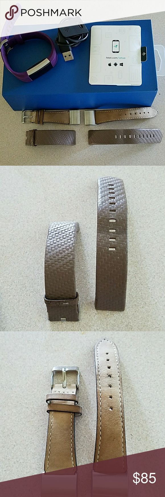 FITBIT Fitbit HR charge 2 with original purple band.  Comes in original box with charger and 2 other bands that i purchased separately. Works great no problems and open to offers! Other