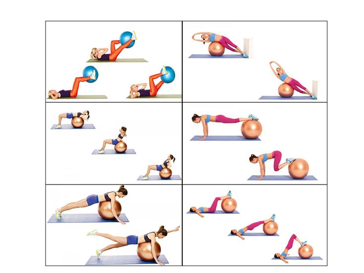 Fitness tips with ball.