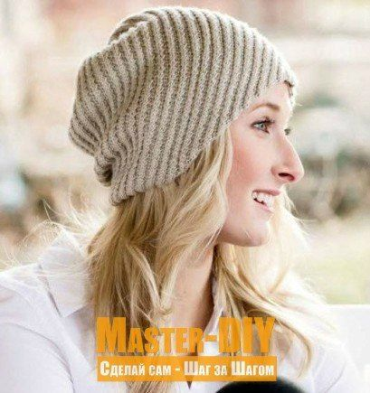 Вязаная шапка спицами витым диагональным узором. Описание вязания женской шапка и витого диагонального узора.