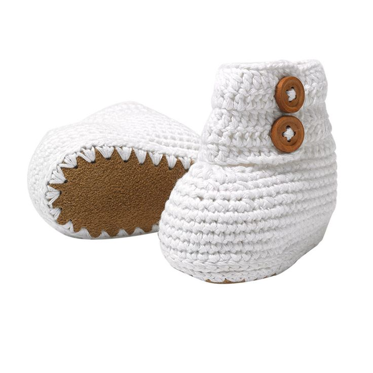 Hand-Crocheted Baby Boots #baby #clothing