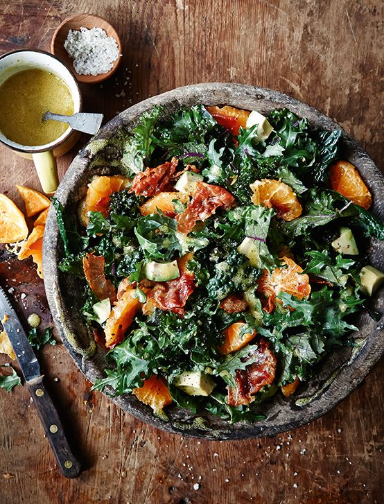 Kale Salad with Country Ham & Mustard Vinaigrette -Foster ...