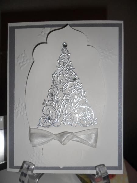 Snow Swirl and Foil Envelope - rubberrosie.blogspot.com
