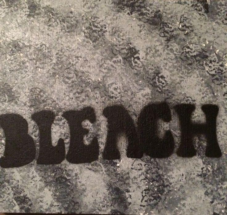 Nirvana inspired stencil  #bleach #nirvana #stencil #acrylic #blackandwhite