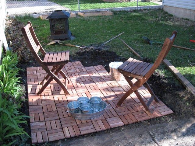 Ikea Deck Tiles On Grass Wood Deck Tiles Outdoor Deck Tiles